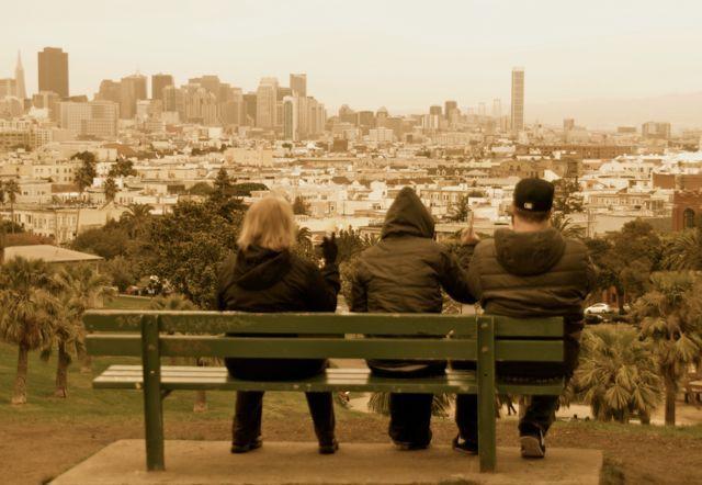 Dolores Park San Francisco - Chrstmas time 2009