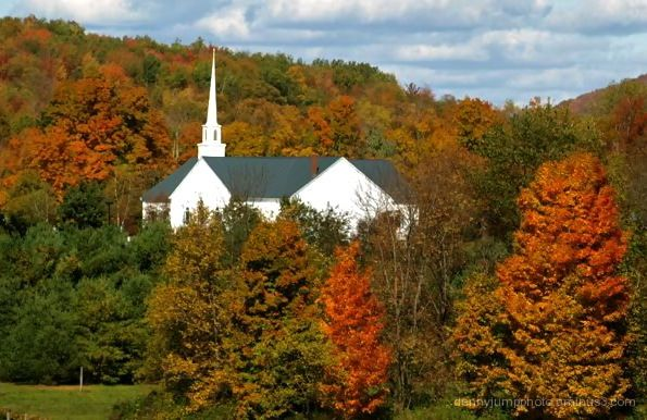 Classic Vermont Steeple and Church