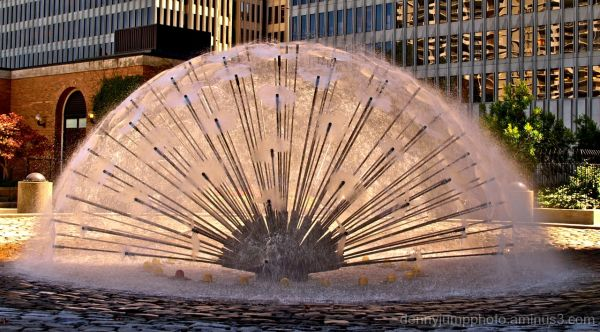 Fountain in Maritime Plaza   San Francisco