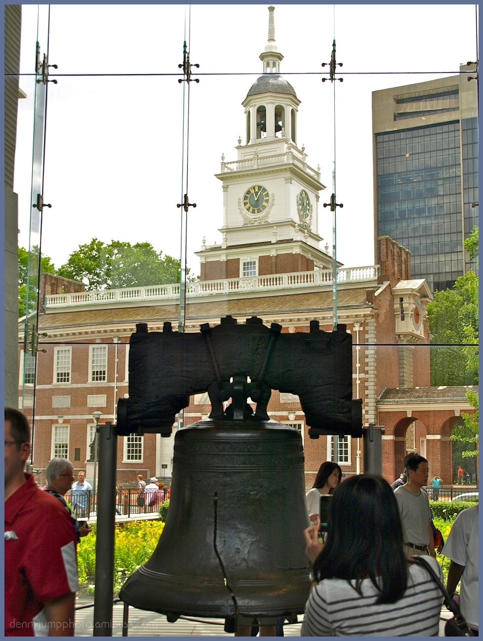 Liberty Bell and Independance Hall