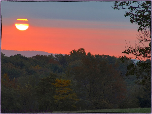 Sunrise, Hunterdon County New Jersey 17 Oct 2012