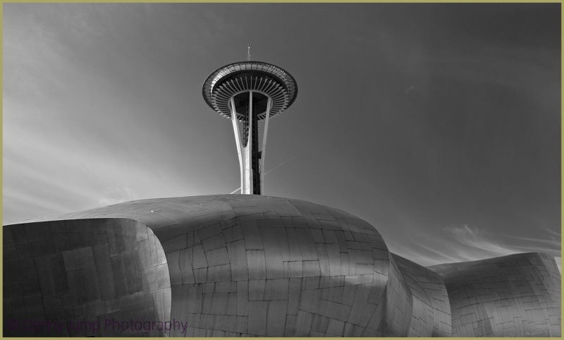 Space Needle and Museum of Modern Music