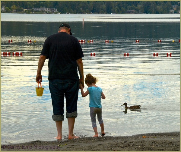 With Dad at the Lake
