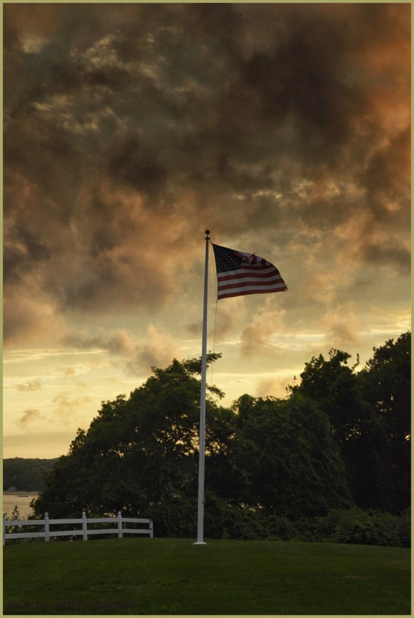 "The Cape   ""Old Glory"" under Stormy Clouds"