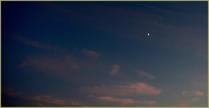 Crescent Moon at Dusk