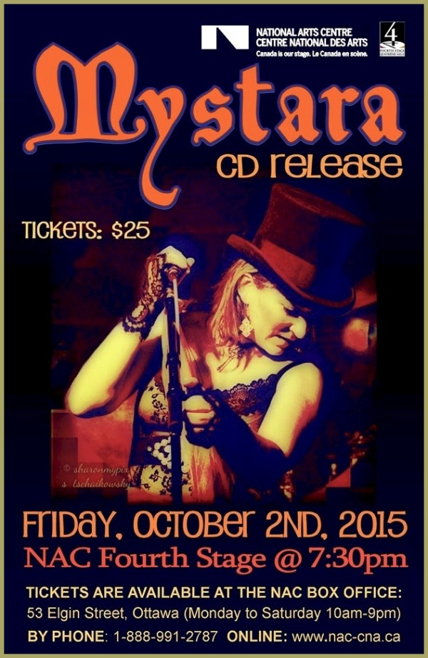 C D Release   2 Oct 2015 in Ottawa    MYSTARA
