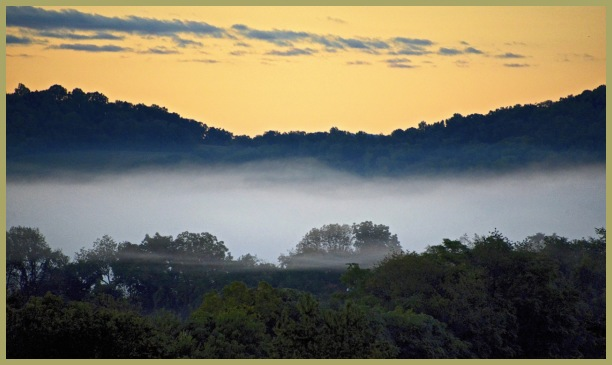 Misty Morning Sunrise = September, 2014