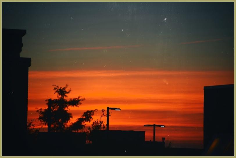 parking Lot Sunset Rooftop