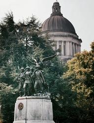Monument and Capital - Olympia, Washington