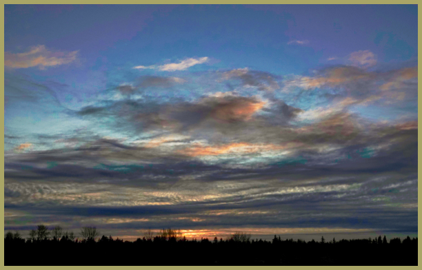 Winter Sunset in the Pacific Northwest