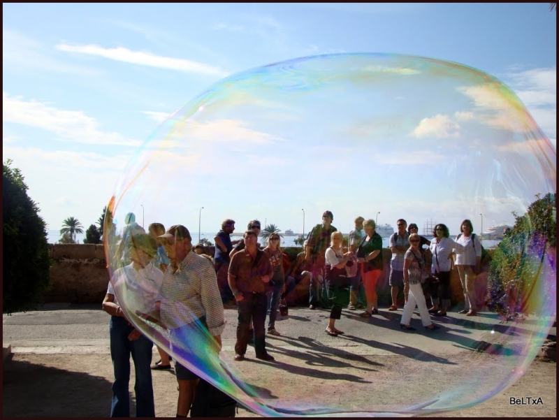 El mundo tras la pompa //the world behind a bubble