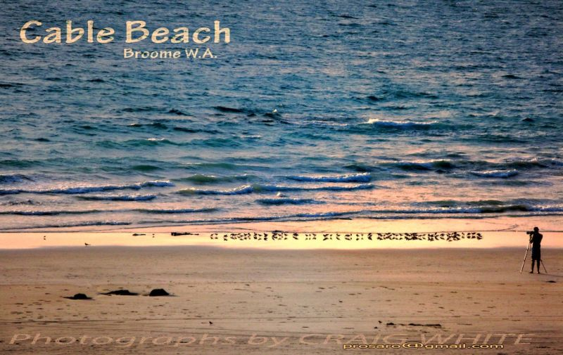 Cable Beach in Broome at Dusk.