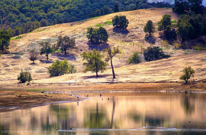 Moyanup Lake near Waroona, Western Australia