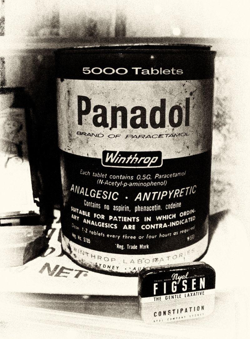 Panadol in Bulk.  On display at Museum