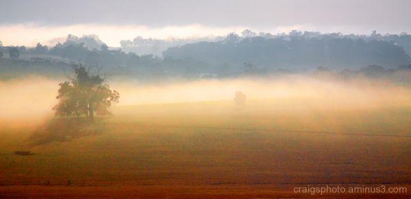Fog mist dales Avon Valley BeverleyWA Craig White