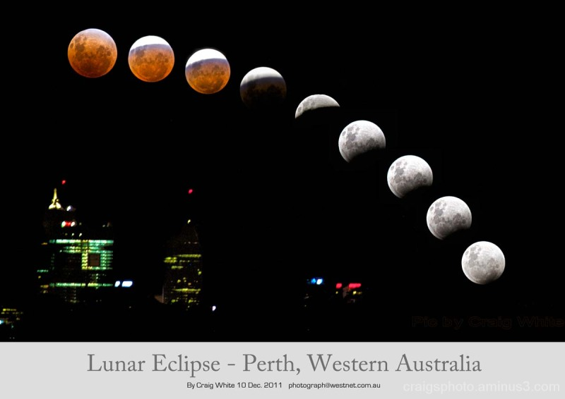 Lunar Eclips over Western Australia by Craig White