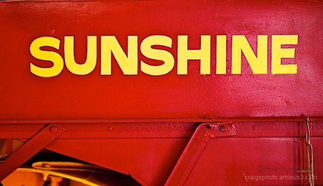 Sunshine grain harvester badging. Australian Icon