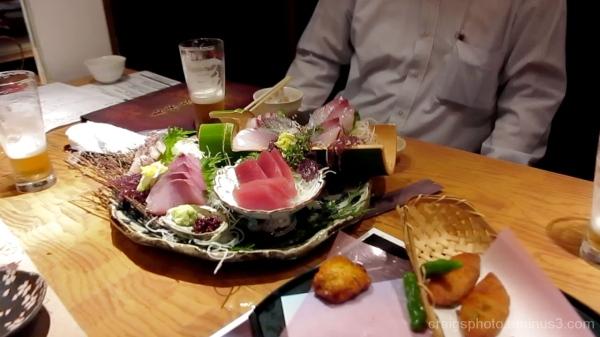Shashimi in a Ginza Tokyo Restaurant