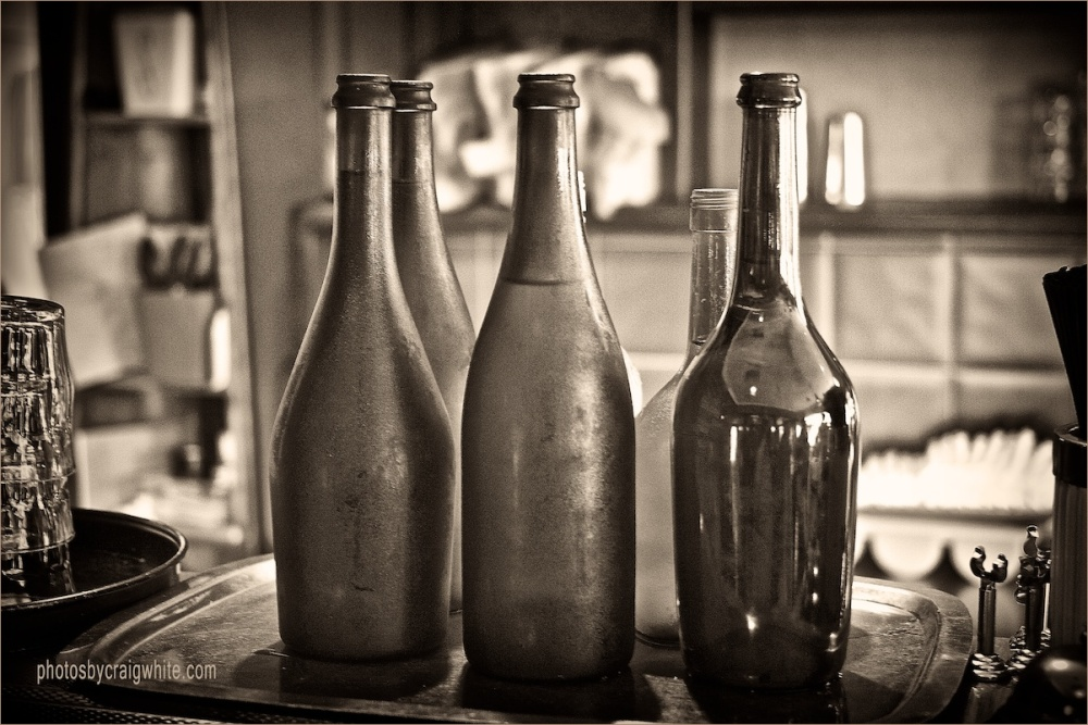 Dewy condensation bottles by Craig White AUS