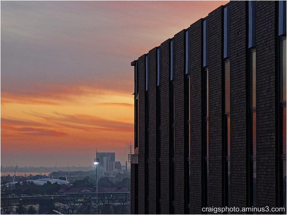 Melbourne Sky line stark by Craig White AUS