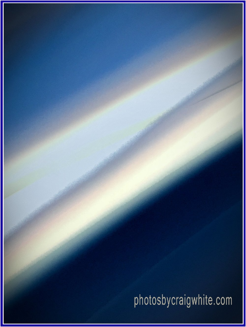 Blue silver lines abstract by Craig White AUS