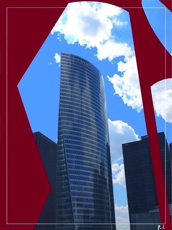 La Défense en bleu, blanc, rouge