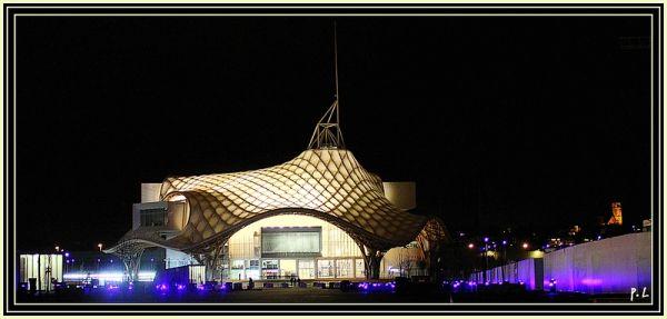Le Centre Pompidou - Vue générale de nuit -