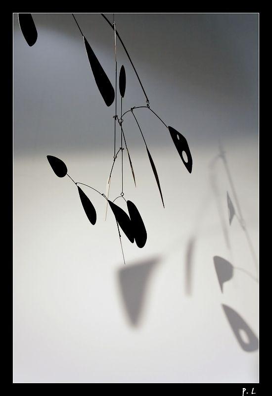 Le mobile de Calder et son ombre.