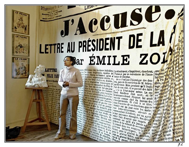 Musée Emile Zola, évocation de l'affaire Dreyfus.
