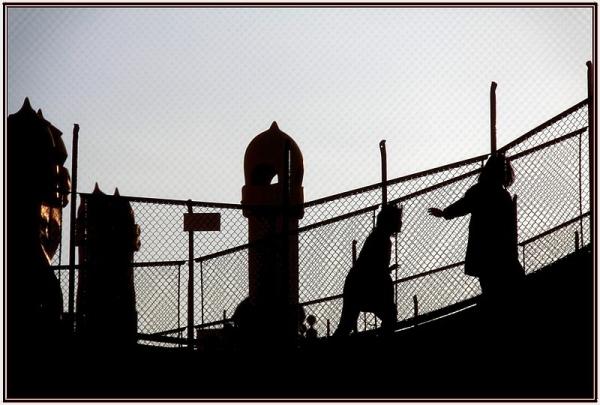 Contre-jour sur la terrasse de la Casa Milà à Barc
