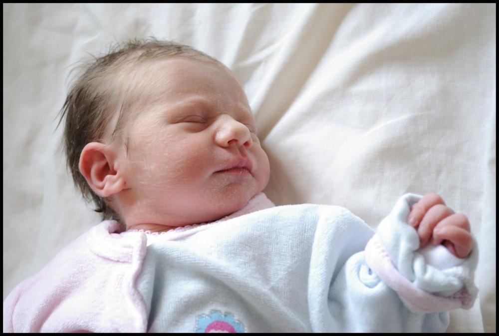 Notre petite Elisa est née