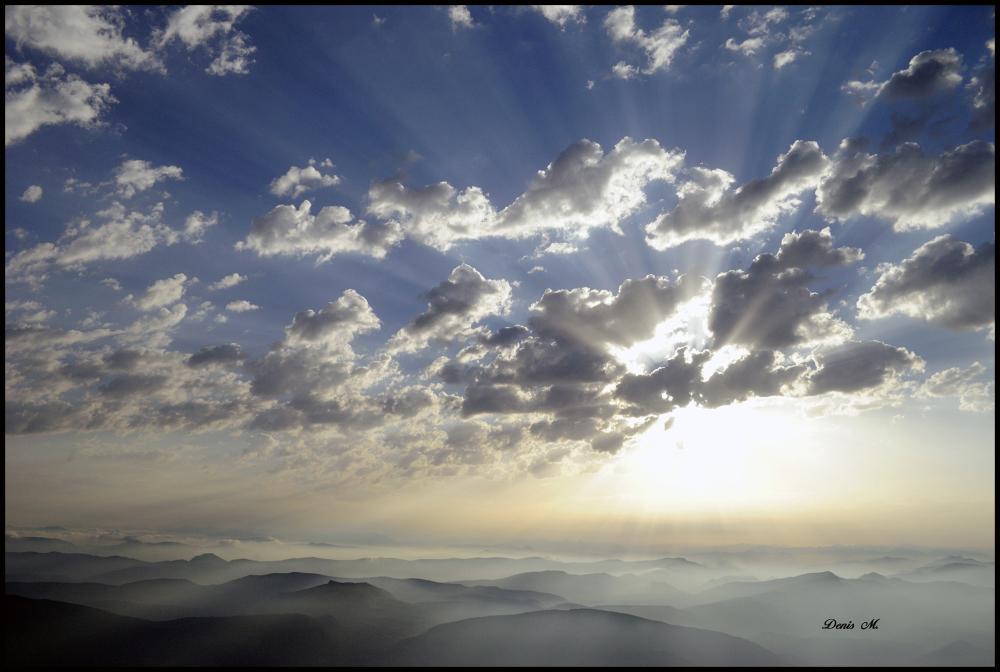 lever de soleil sun paysage montagne