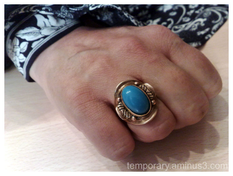 my friend's turquoise ring