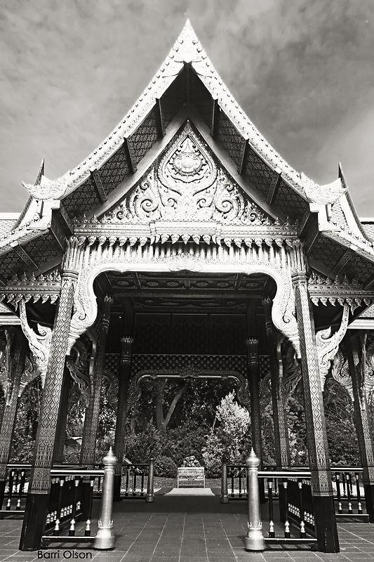 Thai Building Black and white