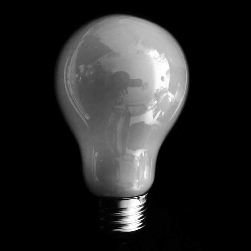 Bulb in Black and white