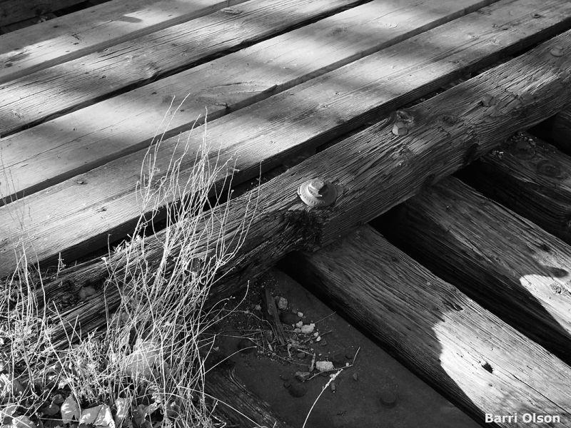 Bridgeboards, Railroad Bridge,Black and White