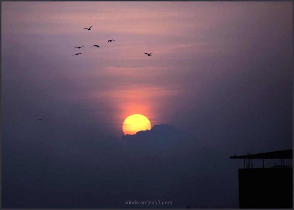 as the sun sets....