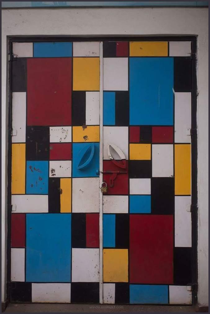 Mondrian door