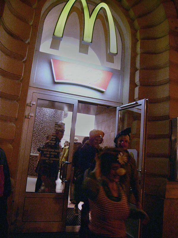 clown clowns flashmob budapest