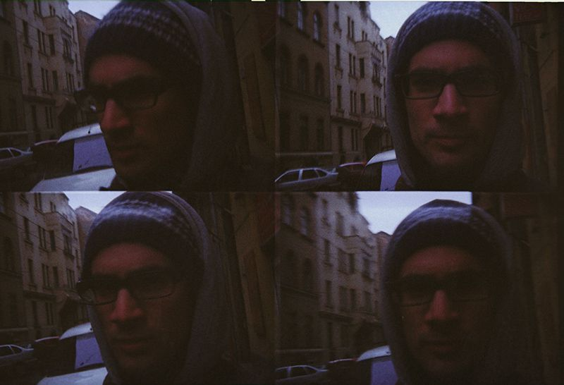 lomo analog film self portrait