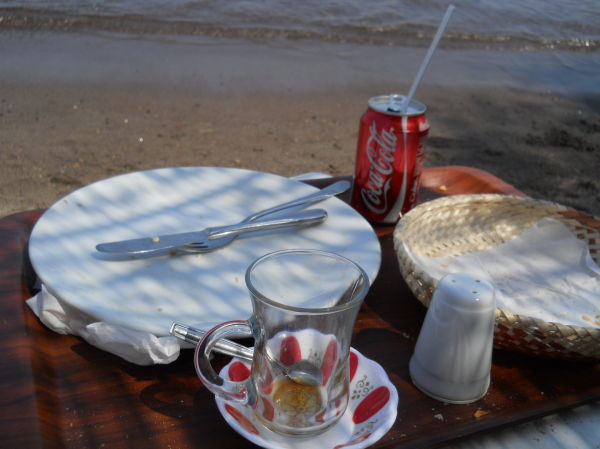 Lunch on the beach: £3.52. Beach lunch: priceless.