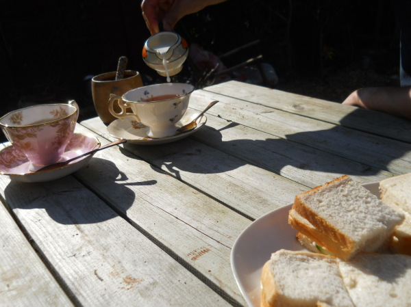 Afternoon tea and cucumber sandwiches