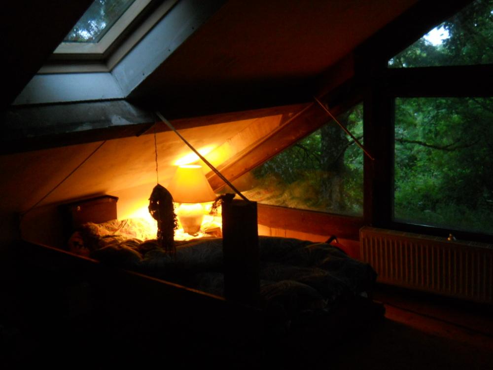 Indoor camping, 5am.
