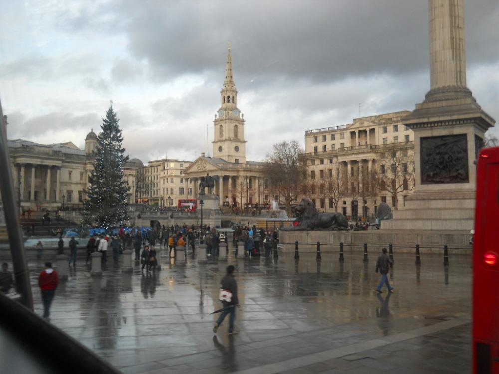 Trafalgar Square's rubbish tree.