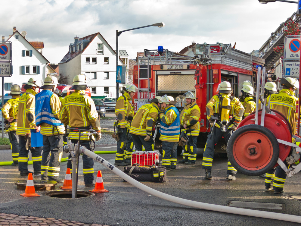 fire brigade in action