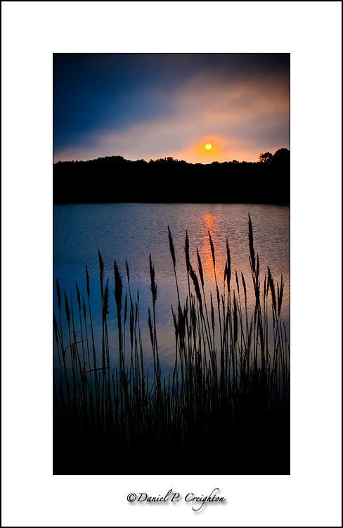 Sunset image of New Jersey salt marsh at sunset.