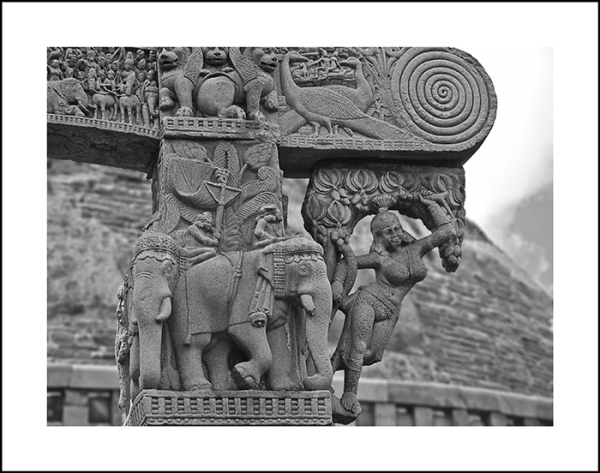 The Entrance panel of the Main Stupa at Sanchi