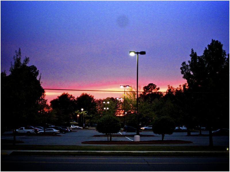 purple sky, dusk