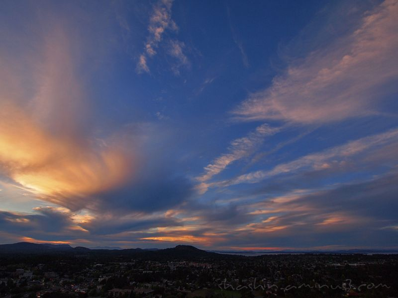 sunset Mt. Tolmie