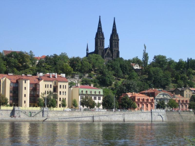 around vltava river in Prague